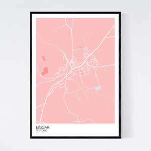 Map of Biggar, Scotland