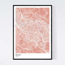 Load image into Gallery viewer, Bilbao City Map Print