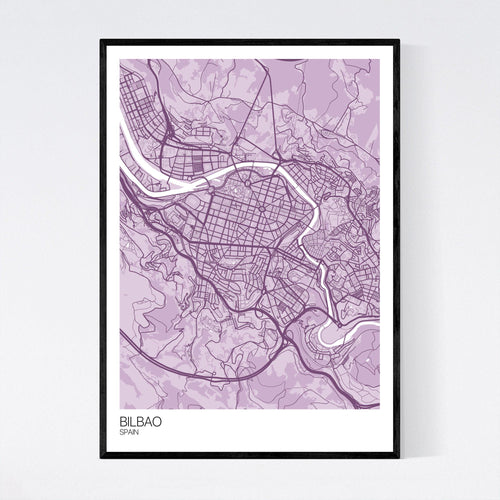Map of Bilbao, Spain