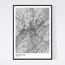 Load image into Gallery viewer, Birmingham City Map Print