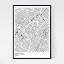 Load image into Gallery viewer, Birmingham City Centre City Map Print