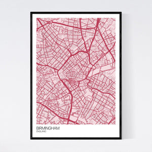 Map of Birmingham City Centre, England