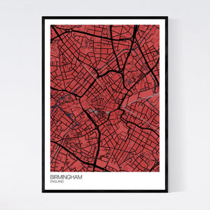 Birmingham City Centre City Map Print