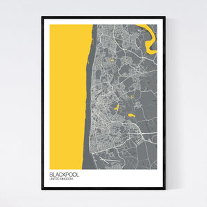 Map of Blackpool, United Kingdom