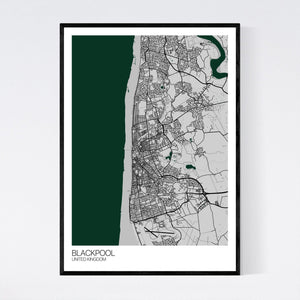 Blackpool City Map Print