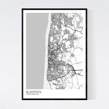 Load image into Gallery viewer, Blackpool City Map Print