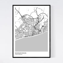 Load image into Gallery viewer, Bognor Regis City Map Print