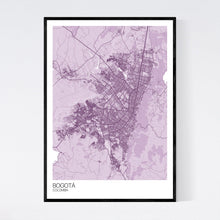 Load image into Gallery viewer, Bogotá City Map Print