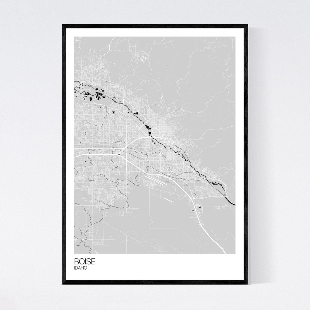 Boise City Map Print