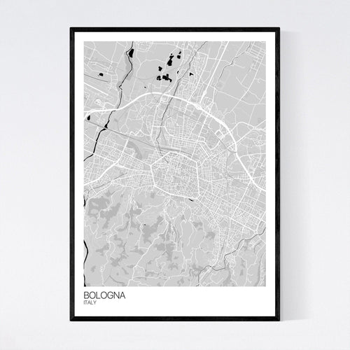 Map of Bologna, Italy