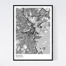 Load image into Gallery viewer, Boston City Map Print