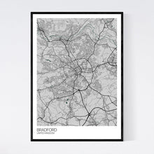Load image into Gallery viewer, Bradford City Map Print