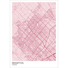 Load image into Gallery viewer, Map of Brampton, Canada
