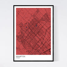 Load image into Gallery viewer, Brampton City Map Print