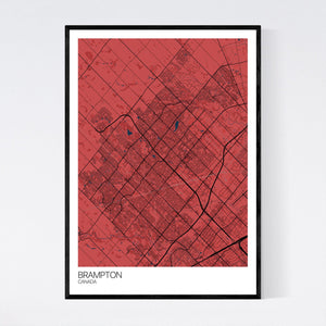 Brampton City Map Print
