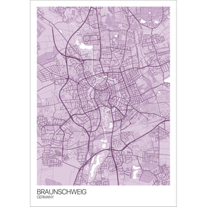 Map of Braunschweig, Germany