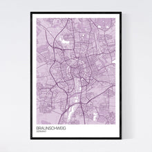 Load image into Gallery viewer, Map of Braunschweig, Germany