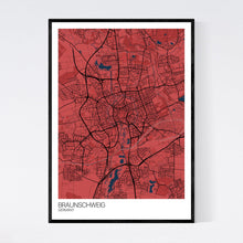 Load image into Gallery viewer, Braunschweig City Map Print