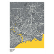 Load image into Gallery viewer, Map of Brest, France