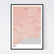 Load image into Gallery viewer, Brest City Map Print