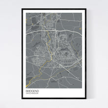 Load image into Gallery viewer, Map of Bridgend, United Kingdom