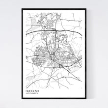 Load image into Gallery viewer, Bridgend City Map Print