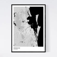 Load image into Gallery viewer, Brisbane City Map Print