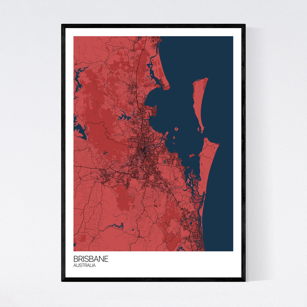 Brisbane City Map Print