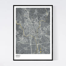 Load image into Gallery viewer, Brno City Map Print