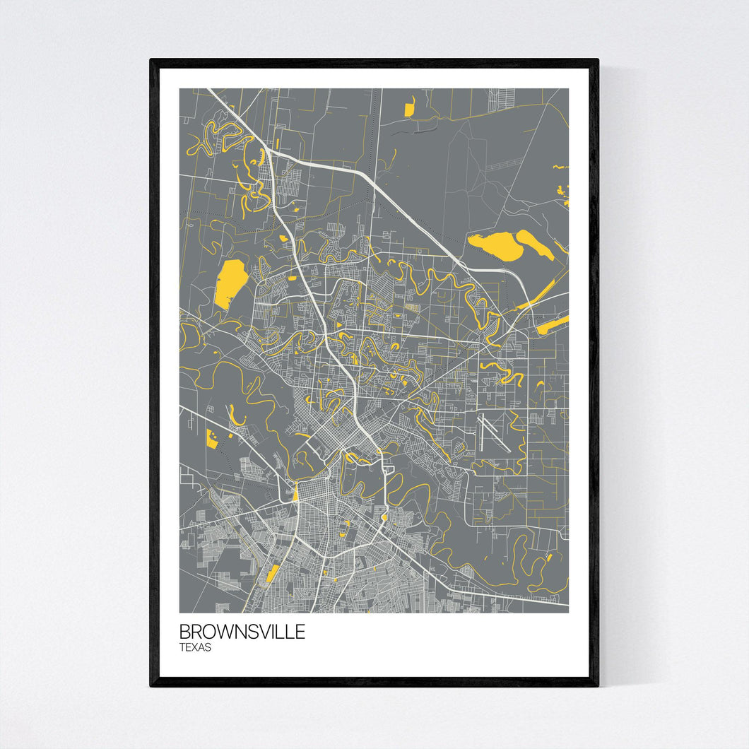 Brownsville City Map Print