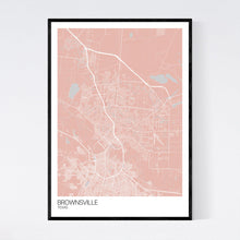 Load image into Gallery viewer, Brownsville City Map Print