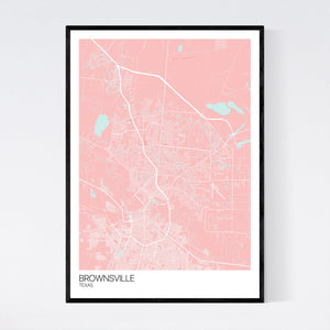 Map of Brownsville, Texas
