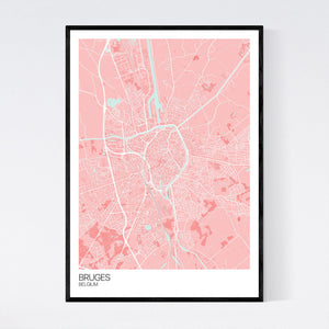 Bruges City Map Print