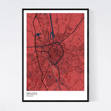 Load image into Gallery viewer, Bruges City Map Print