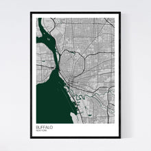 Load image into Gallery viewer, Buffalo City Map Print