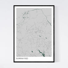 Load image into Gallery viewer, Burkina Faso Country Map Print