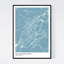 Load image into Gallery viewer, Map of Burton upon Trent, United Kingdom