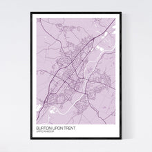 Load image into Gallery viewer, Burton upon Trent City Map Print