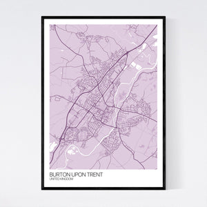 Burton upon Trent City Map Print