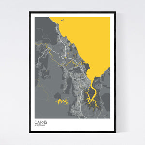 Cairns City Map Print