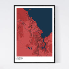 Load image into Gallery viewer, Cairns City Map Print