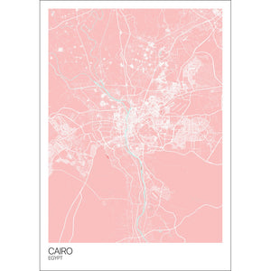 Map of Cairo, Egypt