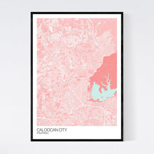 Load image into Gallery viewer, Caloocan City City Map Print