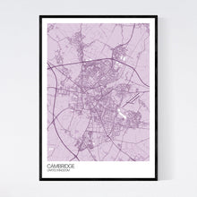 Load image into Gallery viewer, Cambridge City Map Print