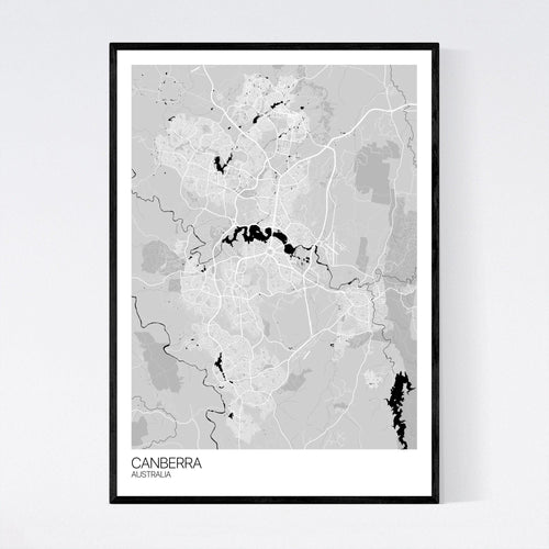 Canberra City Map Print