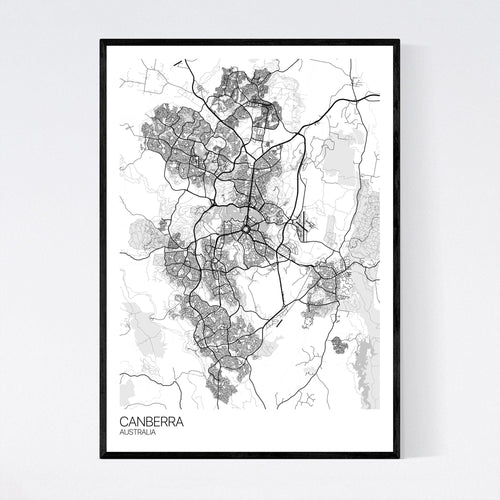 Map of Canberra, Australia