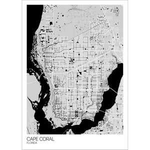 Map of Cape Coral, Florida
