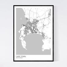 Load image into Gallery viewer, Cape Town City Map Print