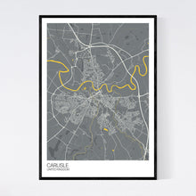 Load image into Gallery viewer, Carlisle City Map Print