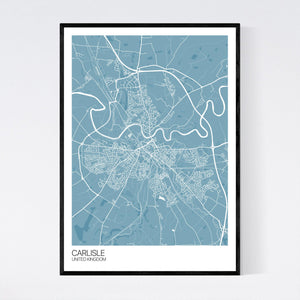 Carlisle City Map Print